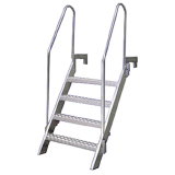 Escada Bulwark Aluminio 1200mm / 600mm - IMPA 232067