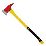 Fire Axes with insulated Rubber Long Handle – IMPA 330961 - Machado de Incêndio c/ Cabo Madeira Emborrachado - 82cm de c