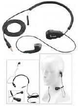 Fone de Ouvido Icom HS-97 Earphone with throat mic headset- Icom HS-97 C/ Microfone de Garganta C/ Vox Para Radio Portat