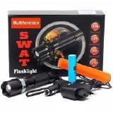 Lanterna Recarregavel 110V/220V/12V, Em Aluminio/Metal, a Prova d´agua, Prova de Choque, Baterias Inc