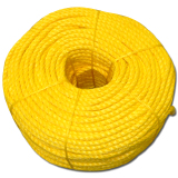 Corda Polipropileno Flutuante 14mm x 200m Amarela - Polypropilene Rope mono 3P Yellow 14mm x 220m - IMPA 210255