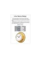 RELOGIO NAUTICO 0-12HS VISOR DIAM 90MM BASE METAL DIAM 140 X 60MM